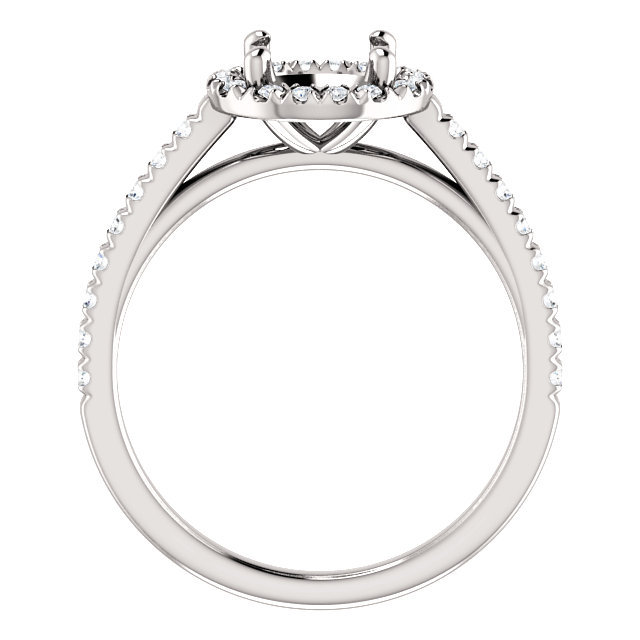 Sterling Silver 7mm Round /& .01 CTW Diamond Semi-Set Ring Sizes 5-7